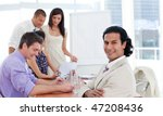 smiling young business... | Shutterstock . vector #47208436