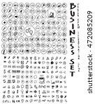 business doodles sketch vector... | Shutterstock .eps vector #472085209