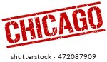 chicago stamp. red square... | Shutterstock .eps vector #472087909