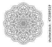 contour mandala. perfect for... | Shutterstock .eps vector #472089319