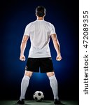 soccer player man isolated | Shutterstock . vector #472089355