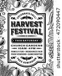 vintage harvest festival poster ... | Shutterstock .eps vector #472090447