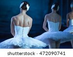 Ballet Swan Lake. Backs Of...