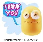 3d rendering sad character... | Shutterstock . vector #472099351