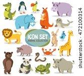 set of funny animals. vector... | Shutterstock .eps vector #472100314