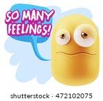 3d rendering sad character... | Shutterstock . vector #472102075