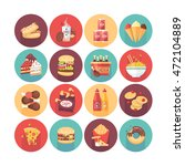 fastfood  junk food  snack meal.... | Shutterstock .eps vector #472104889