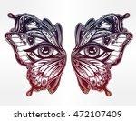 beautiful butterfly wings mask... | Shutterstock .eps vector #472107409