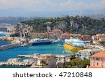 harbor with luxury yachts ... | Shutterstock . vector #47210848