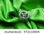 vintage emerald ring on green... | Shutterstock . vector #472110004