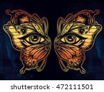 beautiful butterfly wings mask... | Shutterstock .eps vector #472111501