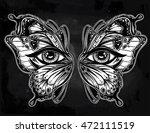 beautiful butterfly wings mask... | Shutterstock .eps vector #472111519