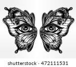 beautiful butterfly wings mask... | Shutterstock .eps vector #472111531