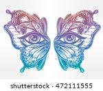 beautiful butterfly wings mask... | Shutterstock .eps vector #472111555