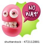 3d rendering sad character...   Shutterstock . vector #472112881