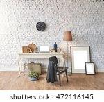brick wall horizontal banner...   Shutterstock . vector #472116145