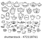 hand drawn tea doodle