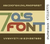 retro stripe alphabet vector... | Shutterstock .eps vector #472119775