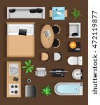 set top view for interior icon...   Shutterstock .eps vector #472119877