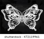 beautiful butterfly wings with... | Shutterstock .eps vector #472119961