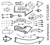 arrow doodles. set of arrows... | Shutterstock .eps vector #472123285