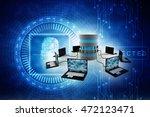 computer network 3d rendering | Shutterstock . vector #472123471