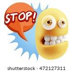 3d rendering sad character... | Shutterstock . vector #472127311