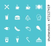 fast food icon set | Shutterstock .eps vector #472127419