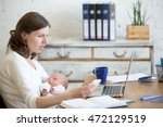 portrait of young business mom... | Shutterstock . vector #472129519