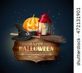 happy halloween modern greeting ... | Shutterstock .eps vector #472131901
