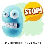 3d rendering sad character... | Shutterstock . vector #472136341