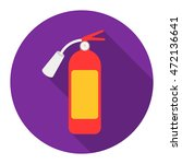 fire extinguisher icon flat.... | Shutterstock .eps vector #472136641