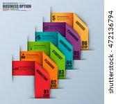 infographic ribbon label vector ... | Shutterstock .eps vector #472136794