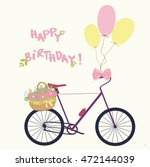 happy birthday card  with...   Shutterstock .eps vector #472144039