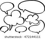 empty speech bubbles. brush... | Shutterstock .eps vector #472144111