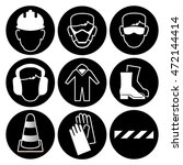 safety icon collection | Shutterstock .eps vector #472144414