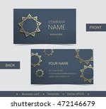 layout business card with... | Shutterstock .eps vector #472146679