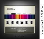 web site design template ...   Shutterstock .eps vector #47215363