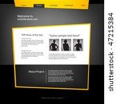 web site design template ...   Shutterstock .eps vector #47215384