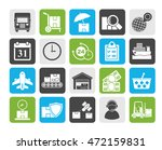 silhouette cargo  shipping and... | Shutterstock .eps vector #472159831