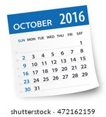 october 2016 calendar leaf  ... | Shutterstock .eps vector #472162159