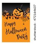 halloween party design template ...   Shutterstock .eps vector #472164637