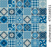 decorative tile pattern design. ... | Shutterstock .eps vector #472166011