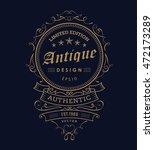 vintage banner western design... | Shutterstock .eps vector #472173289