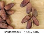 dried date palm delicious on... | Shutterstock . vector #472174387