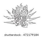 vintage old school biker tattoo | Shutterstock .eps vector #472179184