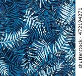 vector seamless tropical... | Shutterstock .eps vector #472194271