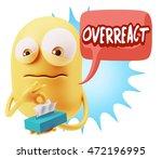 3d rendering sad character... | Shutterstock . vector #472196995