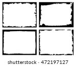 set of grunge frames.grunge... | Shutterstock .eps vector #472197127