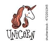 cute unicorn. magic and fairy...   Shutterstock .eps vector #472201345